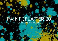 Free Paint Splatter Photoshop Brushes 20
