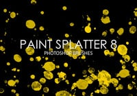 Free Paint Splatter Photoshop Brushes 8