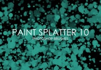 Gratis Verf Splatter Photoshop Borstels 10