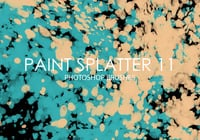 Gratis Verf Splatter Photoshop Borstels 11