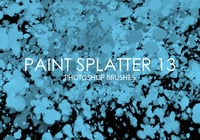 Paint Splatter Pinceles para Photoshop 13