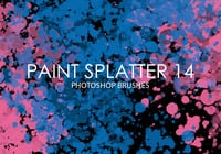 Paint Splatter Pinceles para Photoshop 14