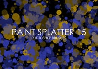 Gratis Verf Splatter Photoshop Borstels 15