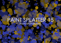 Free Paint Splatter Pinceles para Photoshop 15