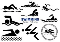 20 Swimming Symbol PS Brushes abr Vol.3