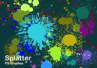 20 Splatter Color PS Brushes abr vol.2