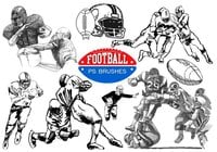 20 Football Ps Brushes abr. vol 8