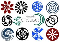 20 Circular PS Brushes abr. Vol.10