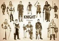 20 Engraved Knight PS Brushes abr.vol.6