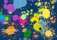 20 Splatter Color PS Brushes abr vol.3