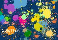 20 Splatter Color PS Brushes abr vol.3