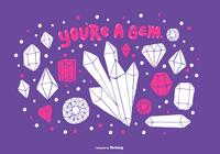 You're A Gem PSD Background