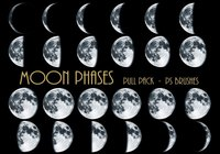 26 fases da lua Ps Brushes abr Vol.5