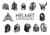 Free Helmet Photoshop Brushes