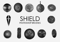 Free Shield Photoshop Brushes