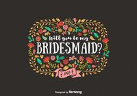 Will You Be My Bridesmaid Card PSD