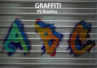 26 Alphabet Graffiti PS Bürsten abr. Vol. 14
