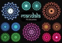 20 Mandala PS Brushes abr. Vol.10