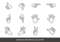 Hand Gestures Brush Collection