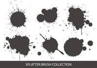 Splatter borstel collectie