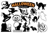 20 Halloween PS Brushes abr. Vol.6