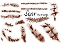 20 Scar PS Brushes abr.Vol.1