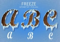Freeze Alphabet Set PS Pinceles abr. Vol.2