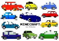20 Minecraft Car PS Brushes abr. Vol.3