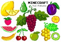 20 Minecraft Fruit PS Brushes abr. Vol.1