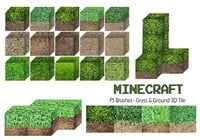 20 Minecraft 3D Tile PS Brushes abr. Vol.6