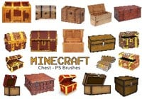 20 Minecraft Chest PS Brushes abr. Vol.7