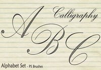 20 Calligraphy Alphabet Set PS Brushes abr. Vol.2