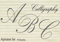 20 Set d'alphabet de calligraphie Brosses PS abr. Vol.2