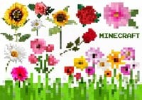 20 Minecraft Flower PS Brushes abr. Vol.5