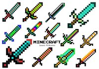 20 Espada Minecraft PS Brushes ABR. vol.10