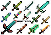 20 Minecraft Sword PS Brushes abr. Vol.10