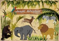 22 Jungle Adventure PS Brushes abr. Vol.1