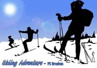 20 Skiing Adventure PS Brushes abr. Vol.4