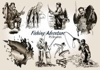 20 Fishing Adventure PS Brushes abr. Vol.6