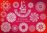 20 Ethnic Arabic PS Brushes abr. vol.17