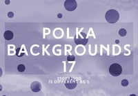 Purple Polka Dot Vector Backgrounds