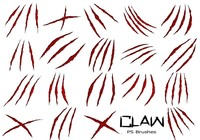 20 Claw Scratch PS Brushes abr. vol.10