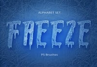 20 Freeze Alphabet Set PS Brushes