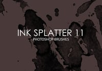 Free Ink Splatter Pinceles para Photoshop 11