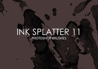 Free Ink Splatter Photoshop Brushes 11