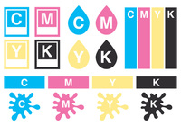 Collection CMYK Brush