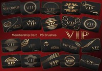 20 Vip Card PS Brushes abr. Vol.3