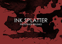Free Ink Splatter Photoshop Brushes