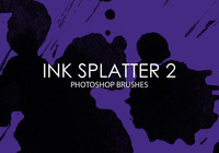 Free Ink Splatter Photoshop Brushes 2