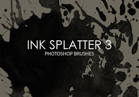 Free Ink Splatter Photoshop Brushes 3